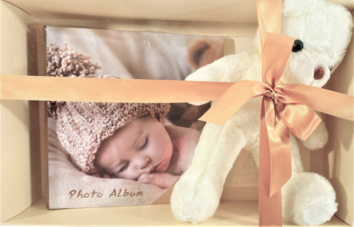 Set Album foto model Born Baby, 200 poze, 22 x 22 cm  si urs din plus 30cm [0]