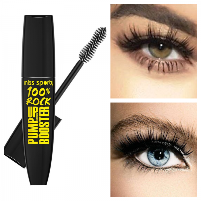 Mascara Miss Sporty Pump Up Booster 100% Rock Black 0