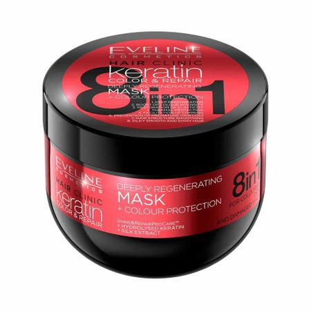 Masca par Eveline Hair Clinic Colour Protection 8in1 500ml - BIG SIZE [0]