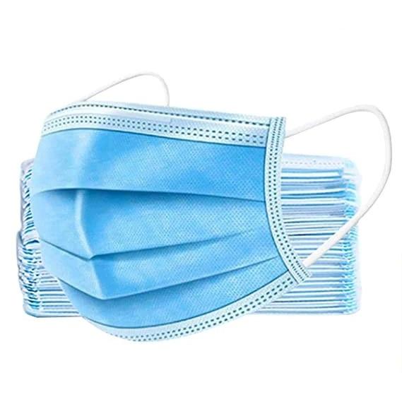 Set 50 bucati masti chirurgicale faciale din 3 straturi, 3 pliuri cu elastic 0