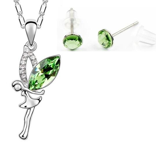 Set ANGEL SKY green cu cristale swarovski 0