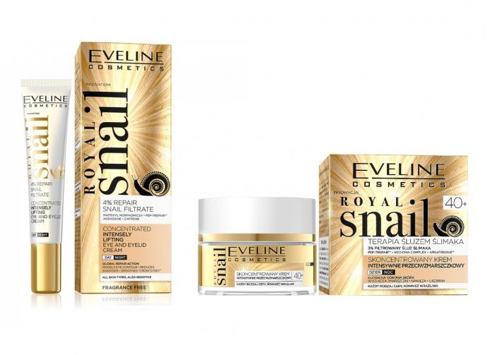 Set Eveline Prestige 24 k Snail & Caviar, Crema de zi/noapte anti-rid 50 ml,  Crema de ochi Eveline Royal Snail 20 mlte an [1]