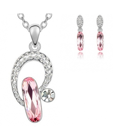 Set LIGHT DROP rose cu cristale swarovski 0