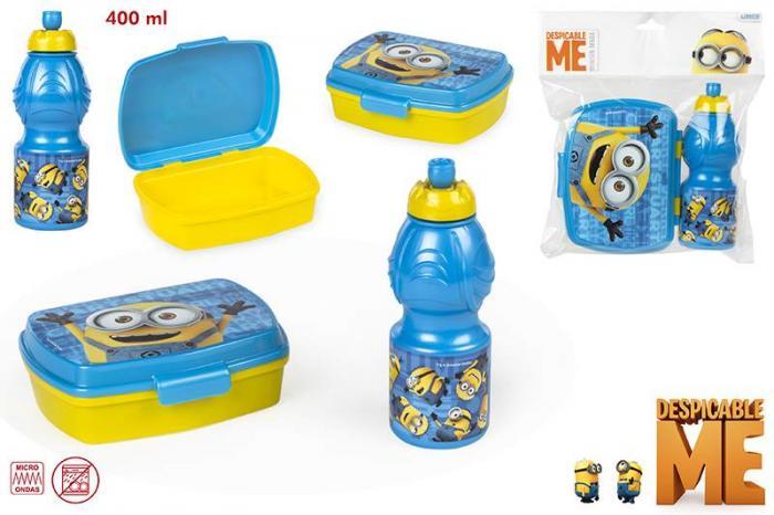 Set PREMIUM cutie sandwich si sticluta apa Minnions Gama Disney 0