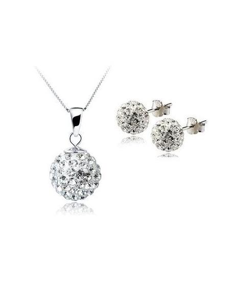 Set bijuteriii SHAMBALA alb cu cristale [0]