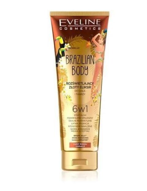 Crema Elixir 6 în 1 pentru corp și față iluminatoare Eveline Cosmetics Brazilian Body