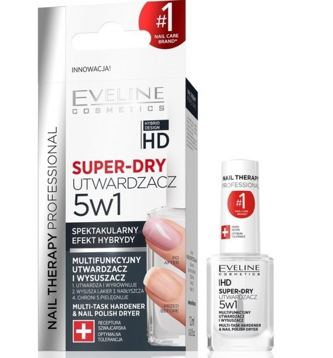 Tratament Eveline Super Dry 5in1 - TOP COAT 0
