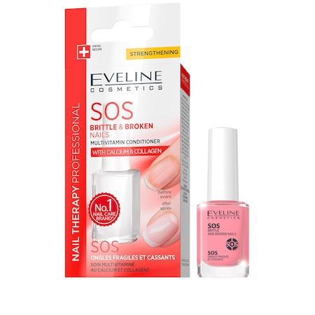Tratament SOS pentru unghii rupte si fragile, Eveline Cosmetics 12 ml [0]