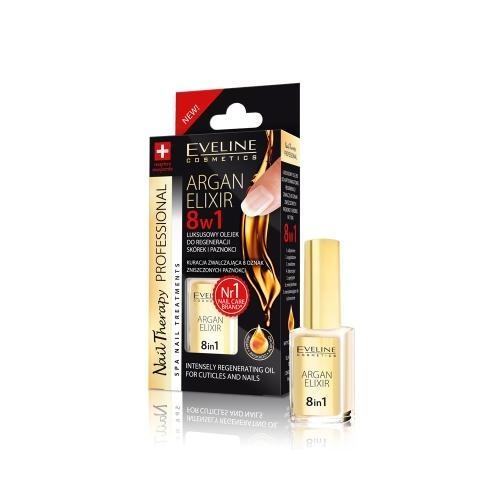 Ulei pentru unghii si cuticule, Eveline Cosmetics, elixir 8 in 1 cu ulei de argan 0