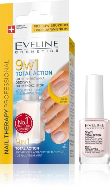 Tratament pentru unghiile piciorului Eveline 9in1 Total Action 12 ml 0