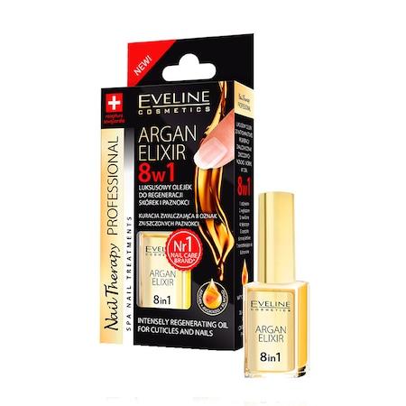 Ulei pentru unghii si cuticule, Eveline Cosmetics, elixir 8 in 1 cu ulei de argan [0]
