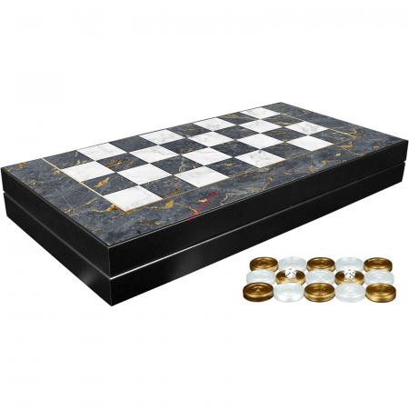 Joc de table din lemn lacuit 48x48 cm, Gri