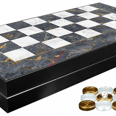 Joc de table din lemn lacuit 48x48 cm, Gri [1]