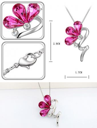 Aranjament floral cu 29 trandafiri din sapun DR29TG-M1 si Colier Bloom Shine rose [1]