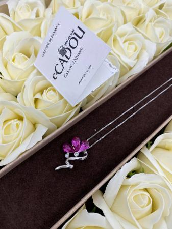 Aranjament floral cu 29 trandafiri din sapun DR29TG-M1 si Colier Bloom Shine rose [0]