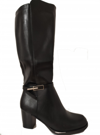 Cizme blanite de dama cu toc inalte, maro sau negre1