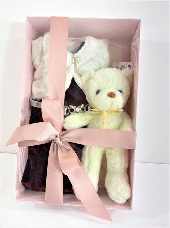 Cutie cadou Premium 1an+ cu Rochita Craciunita si ursulet de plus [0]