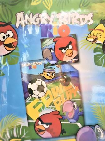 Lenjerie de pat licenta Angry Birds RIO marime 160x200 cm2