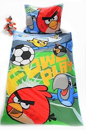 Lenjerie de pat licenta Angry Birds RIO marime 160x200 cm3