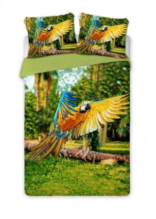 Lenjerie de pat licenta Papagali Parrots percale bedset 4D marime 160x200cm0