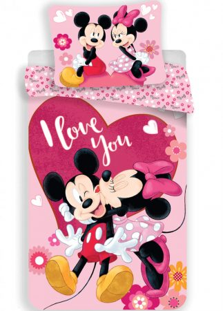 Lenjerie de pat licenta Disney Minnie I love you marime 140×200 cm, 70×90 cm JFK0184150