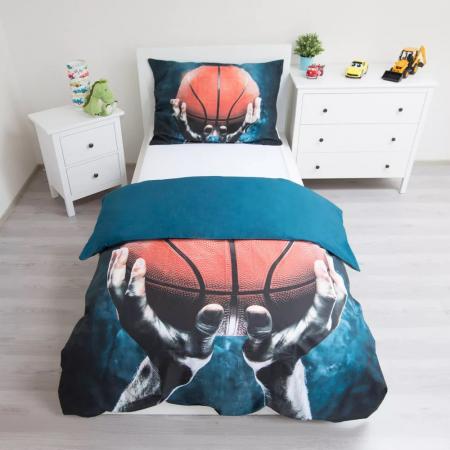 Lenjerie de pat pentru copii Basketball 140×200cm, 70×90 cm2