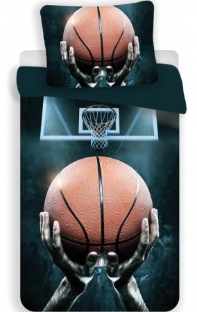 Lenjerie de pat pentru copii Basketball 140×200cm, 70×90 cm0