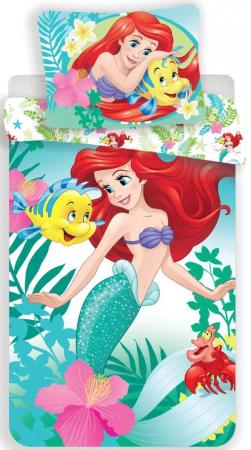 Lenjerie de pat pentru copii Disney Princess  Sirena 140×200cm, 70×90 cm