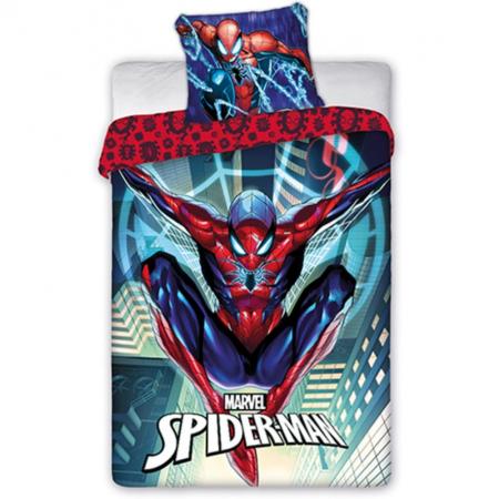 Lenjerie de pat pentru copii Spiderman  140×200 cm, 70×90 cm, Disney, 100% bumbac