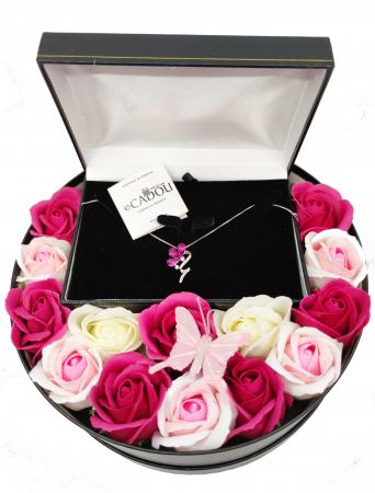 Pachet cadou cu 15 trandafiri din sapun AC-R157-M2 BloomShine