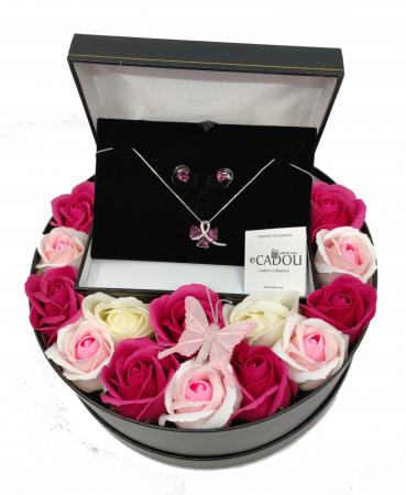 Pachet cadou cu 15 trandafiri din sapun AC-R156-M2  SWEET LEAF [0]