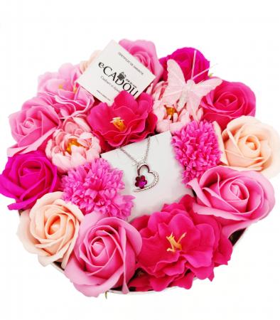 Pachet cadou cu 17 mix flori din sapun AC-R166-M2  FlowerFucsia [0]