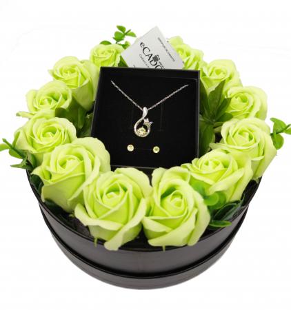 Pachet cadou cu 17 mix flori din sapun AC-R167-M3 Glamour Galben [0]