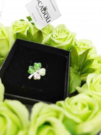 Pachet cadou cu 17 mix flori din sapun AC-R170-M3 SweetLeaf verde [0]