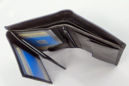 Pachet Promo Curea de barbati 130cm C130N-1881.3 si Portofel de piele negru [3]