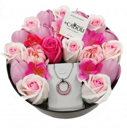 Pachet cadou cu 23 mix flori din sapun AC-R159-M1 MoonlightShine [2]