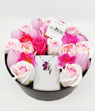 Pachet cadou cu 23 mix flori din sapun AC-R160-M1 BloomShine [1]