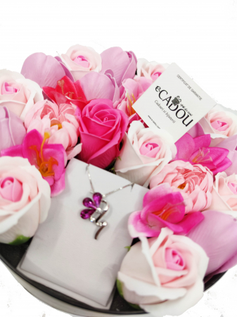 Pachet cadou cu 23 mix flori din sapun AC-R160-M1 BloomShine [0]