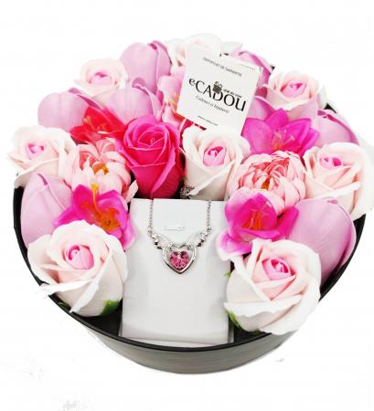 Pachet cadou cu 23 mix flori din sapun AC-R162-M1 FantasyHeart Rose [1]