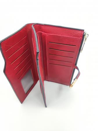 Pachet Promo Geanta casual H601, portofel AB2022LR si curea rosie din piele ecologica [3]