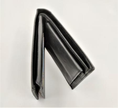 Pachet Promo Portofel de piele si Curea de barbati 135cm, negru lucios, C135N-LY1925-P1373 [5]