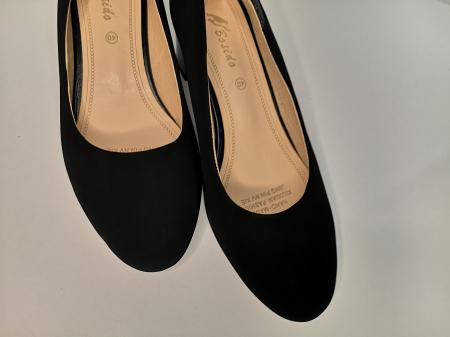 Pantofi eleganti negri  cu toc comod YE5212-2N3