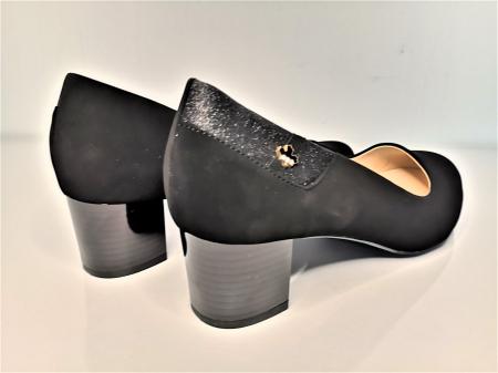 Pantofi eleganti negri  cu toc comod YE5212-2N1