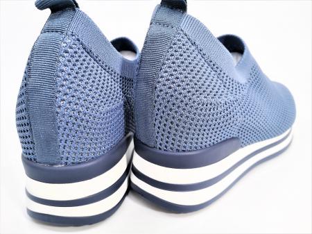 Pantofi sport de dama  albastri cu platforma H01121