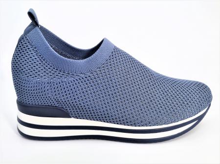 Pantofi sport de dama  albastri cu platforma H01120
