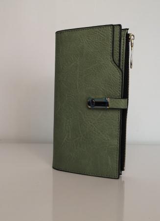 Portofel de dama din piele ecologica AB2022L Verde0