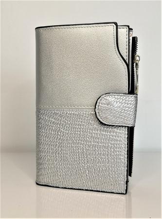 Portofel de dama din piele ecologica AB2035M silver0
