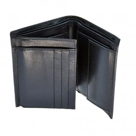 Portofel negru, pentru barbati, din piele naturala, 2245-23 [1]