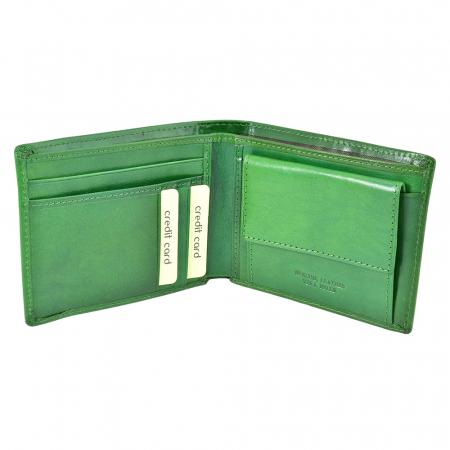 Portofel verde, pentru barbati, din piele naturala, 4450-32 [1]