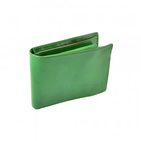 Portofel verde, pentru barbati, din piele naturala, 4450-32 [0]